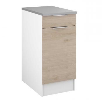 Meuble bas Spott 40x60 cm avec tiroir et porte - chêne