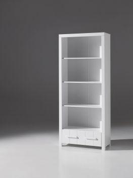 Bibliothèque Erik avec tiroir - blanc