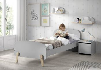 Kiddy bed 90x200 - lichtgrijs