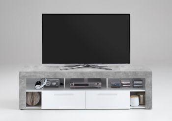 Tv-meubel Vidi 180 cm - beton/wit