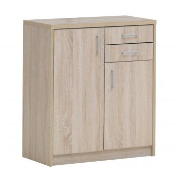 Commode Spacio 2 deuren & 2 laden H 84cm - sonoma eik