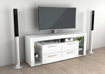 Tv-meubel Vidi 180 cm - hoogglans wit