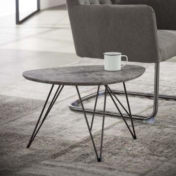 Salontafel Nova 60x40 met haarspeldpootjes - beton