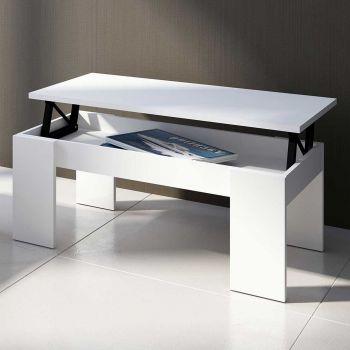 Salontafel Ramos met uitschuifbaar tafelblad - mat wit