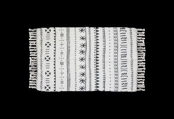Tapis Boha B 210x150 coton - noir/blanc
