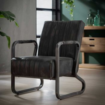 Fauteuil Brianna - antraciet