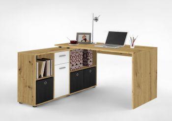 Bureau Lex - oude eik/wit