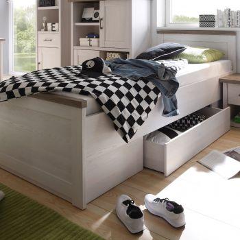 Bed Larnaca 90x200 met schuiflade - wit