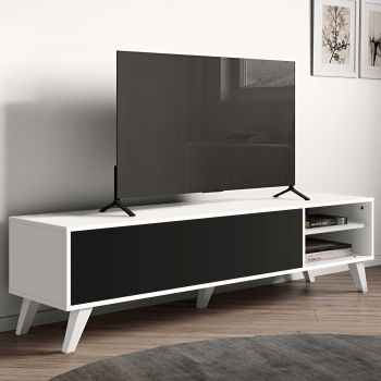 Tv-meubel Kim - wit/zwart