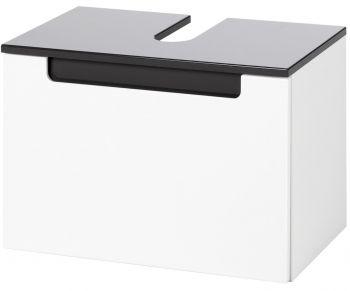 Kast voor wastafel Siena 60cm - wit/antraciet