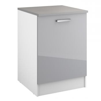 Meuble bas Eli 60 cm avec porte - gris