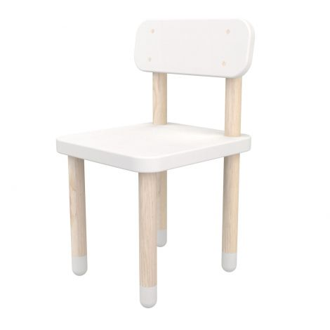 Kinderstoeltje met rugleuning Flexa Play - wit