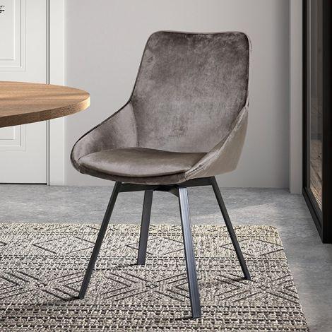 Set van 2 stoelen Mathias - bruin