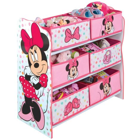 Meuble de rangement Minnie Mouse 6 compartiments