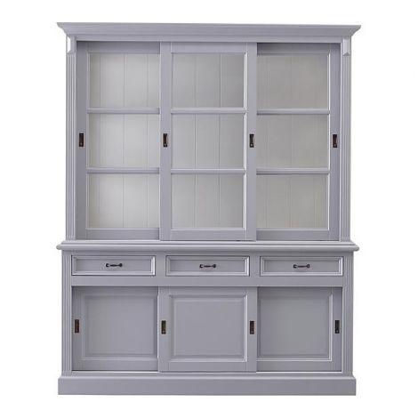 Buffetkast Provence - 180 cm - grijs / wit