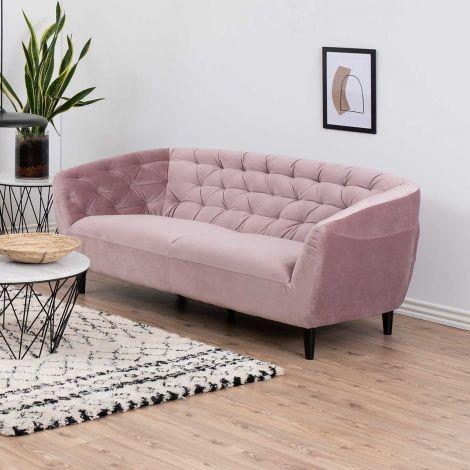 3-zitbank Isiah 191cm - roze