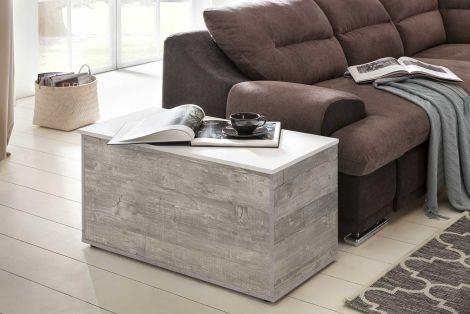 Koffer Kay - wit/beton