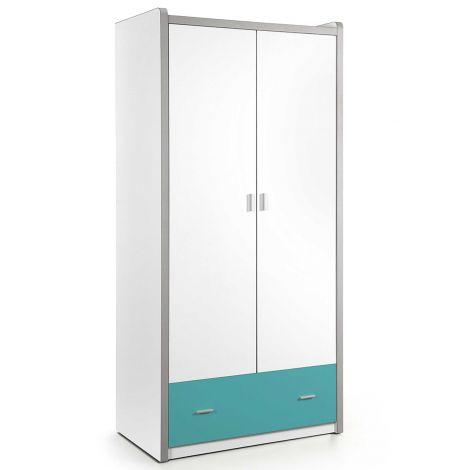 Kledingkast Bonny 2 deuren - turquoise