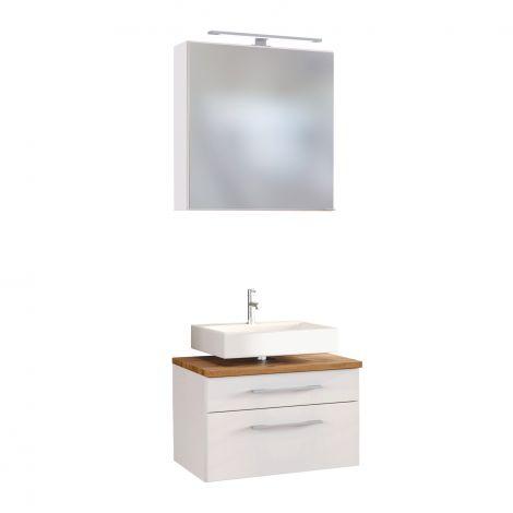 Set wastafelonderkast & spiegelkast Dasa 60cm - wit