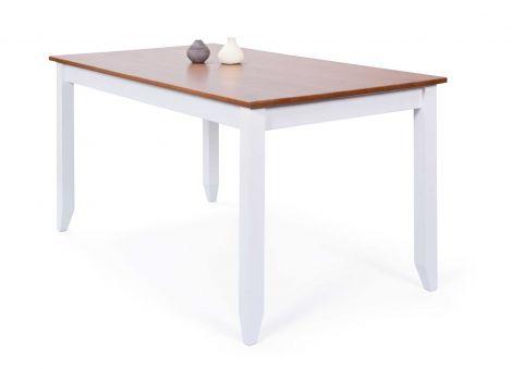 Eettafel Westerland 160x90cm landelijk - wit/bruin