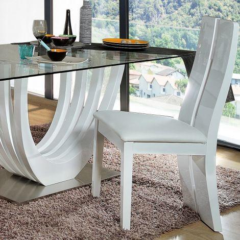 Set van 2 stoelen Ovar - hoogglans wit