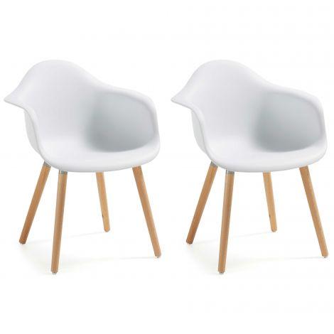 Set van 2 stoelen Kevya - wit
