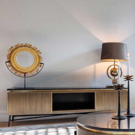 Tv-meubel Aarons 170cm 2 deuren - goud
