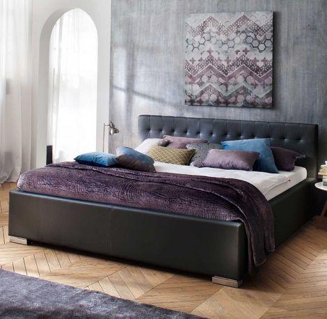 Bed Delphine 140x200 - zwart