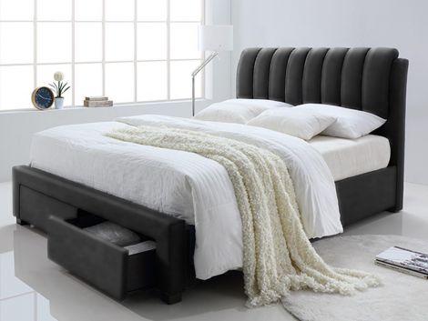 Bed Bedoni 140x200 - zwart