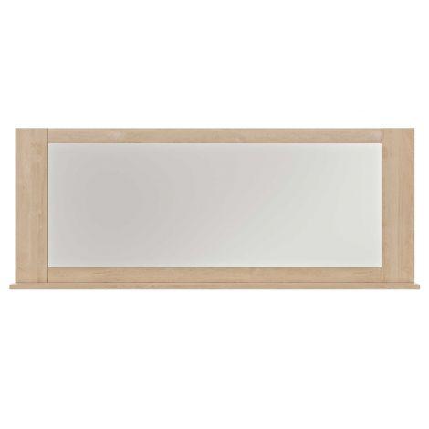 Miroir Bosy avec tablette - chêne blond
