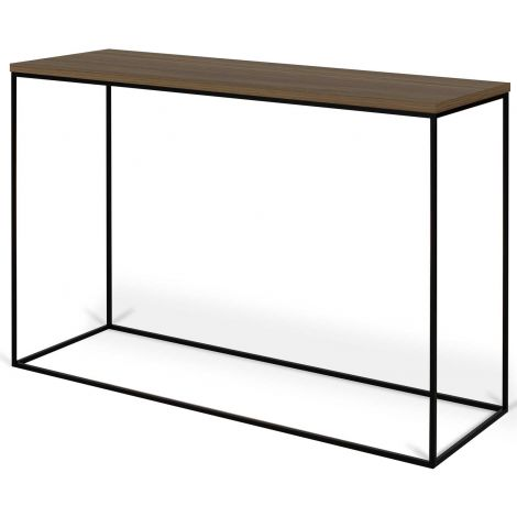 Sidetable Gleam 120cm - walnoot/staal