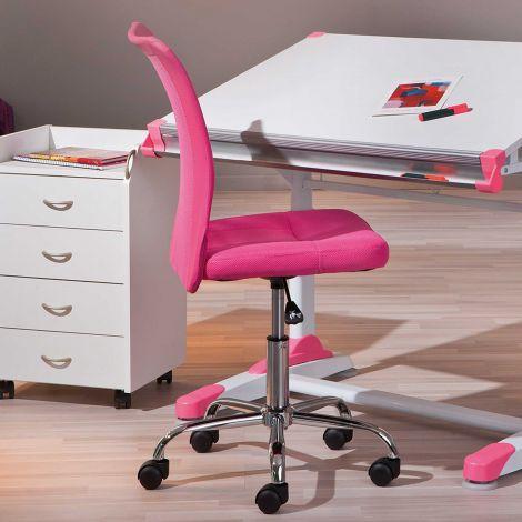 Bureaustoel Eva - roze