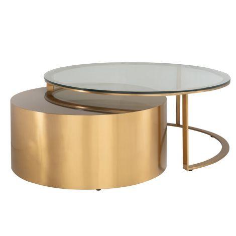Lot de 2 tables basses Orlans - or