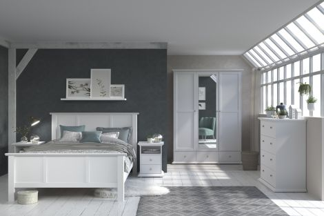 Bed Morgane 140x190 - wit