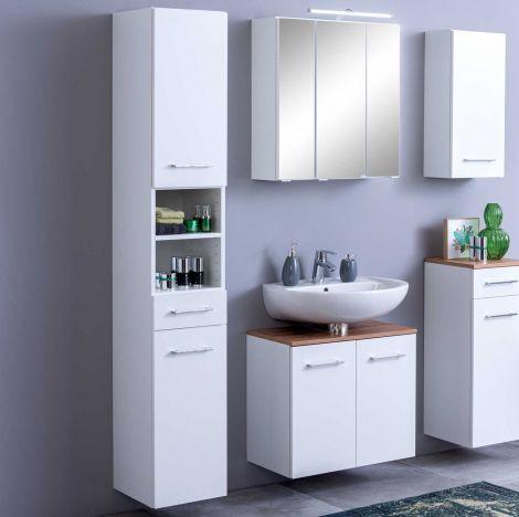 Colonne Pares 30cm 2 portes & 1 tiroir - blanc