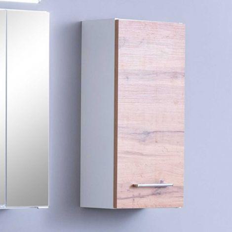 Hangkast Pares 30cm 1 deur - wit/wotan eik