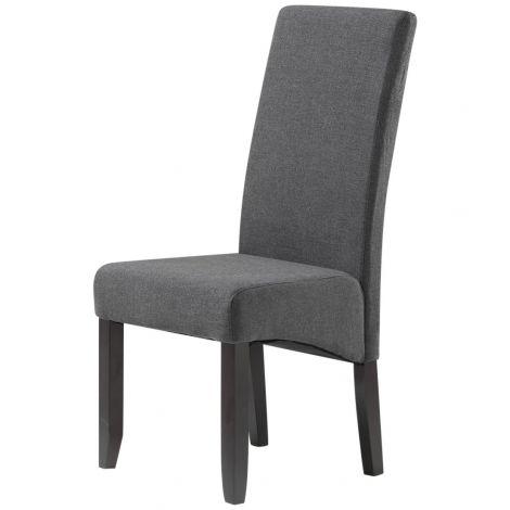 Set van 2 stoffen stoelen Joan - antraciet