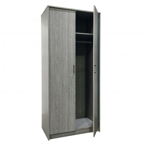 Armoire Ray 2 portes - chêne gris