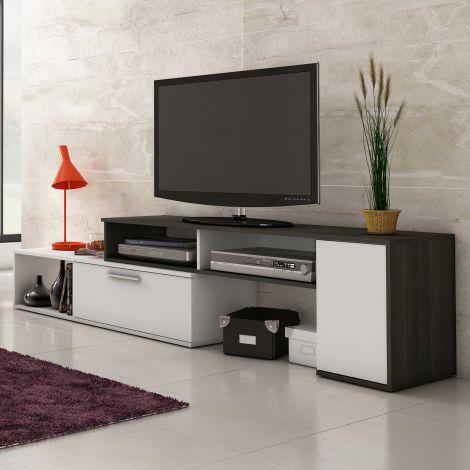 Tv-meubel Whale - wit/antraciet