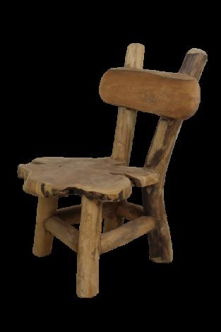 Kinderstoel Flinstone - oud teakhout