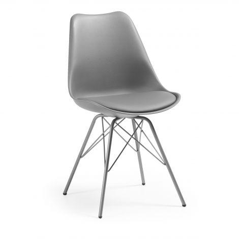 Chaise salle à manger Ralf métal/plastique - gris