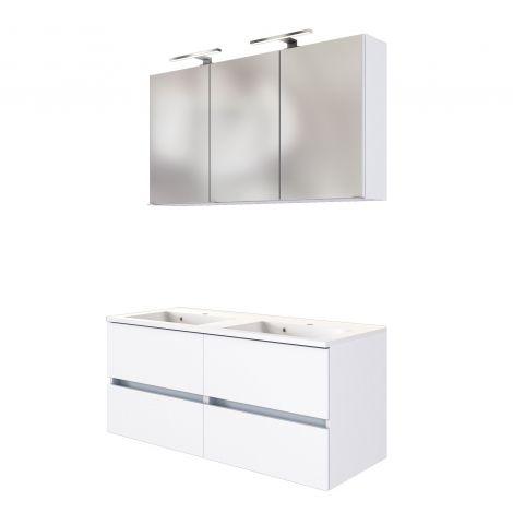 Set meuble lavabo Brama 120cm - blanc