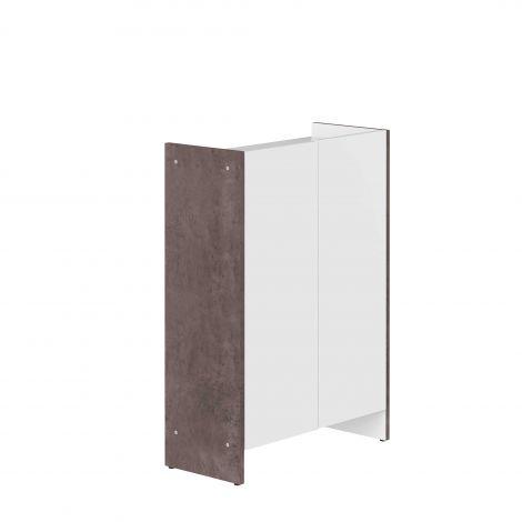 Badkamerkast Biarritz - wit/beton
