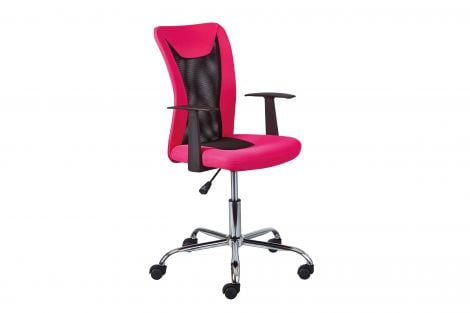 Chaise de bureau Donny - rose