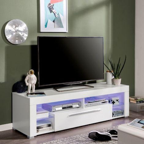 Tv-meubel Gazza 153cm met 1 deur - wit