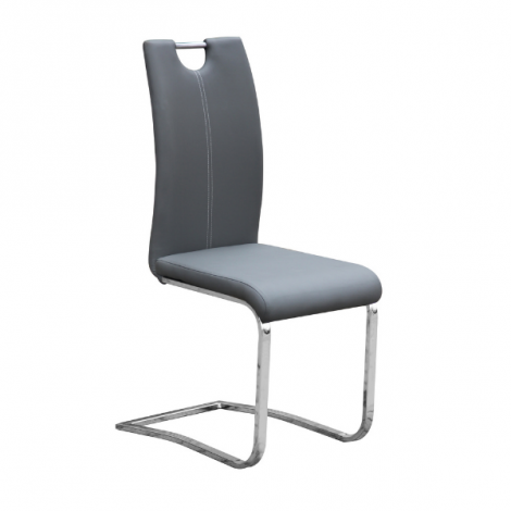 Lot de 2 chaises cantilever Sofia - gris