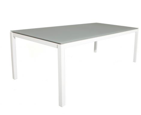 Tuintafel Albany 220x100 - wit/taupe
