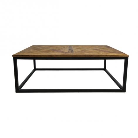 Table basse Maher 110x70 cm - noir/teck