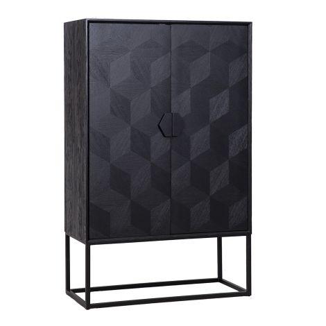 Vaisselier Blax 110cm 2 portes - noir