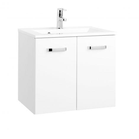 Meuble vasque Bobbi 60cm 2 portes - blanc